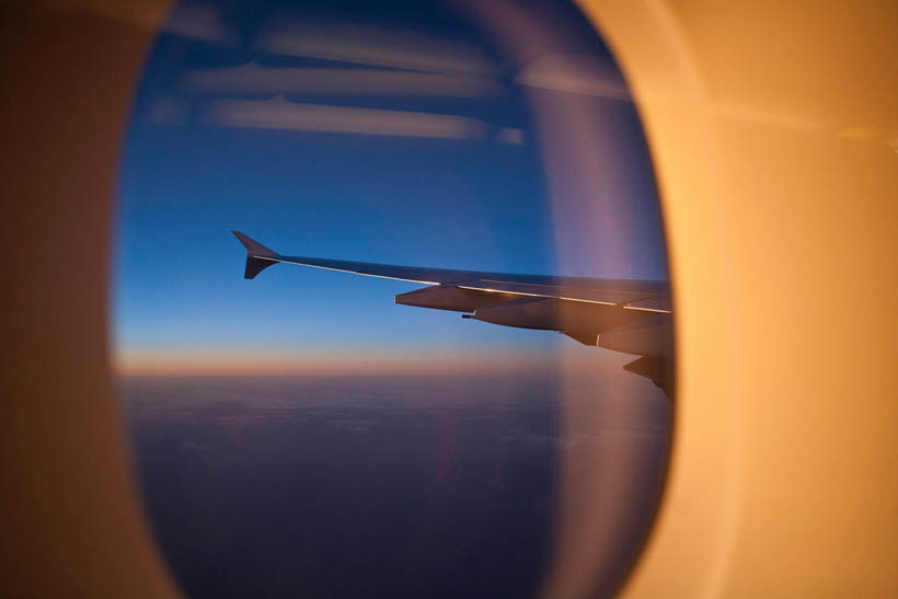 A window view from an A380