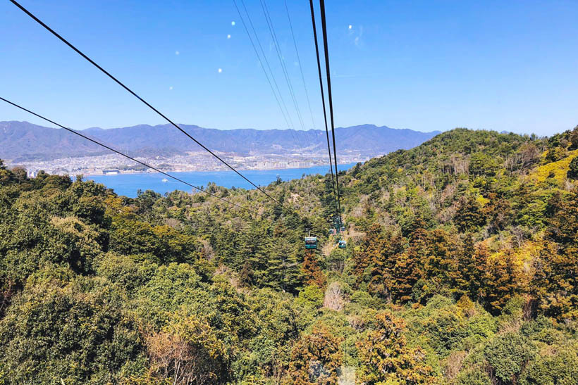 Looking over the island in our cable car.