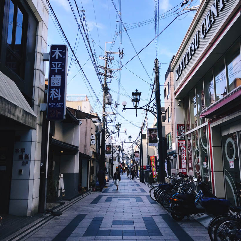 A street in the center of Nara.