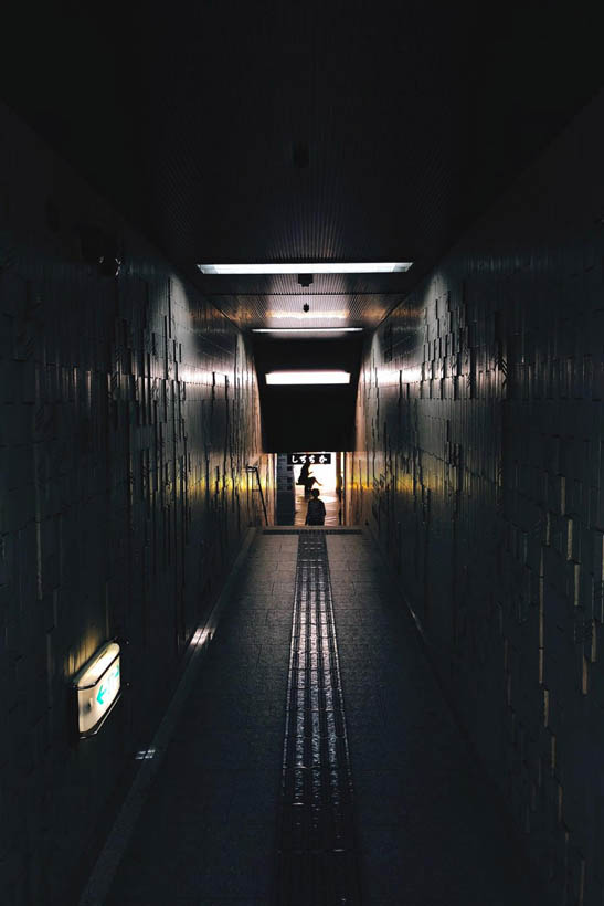 One of the many underground passages in Okayama.