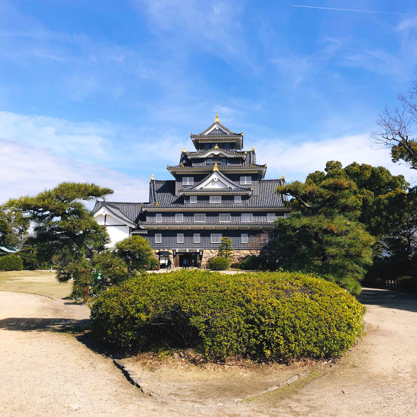 Another look at Okayama Castle.