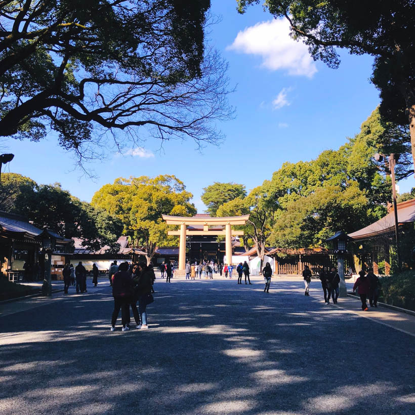The entrance to the Meji Shrine itself.