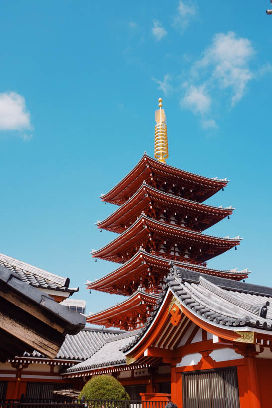 One of the many pagodas at the Senso-ji temple.