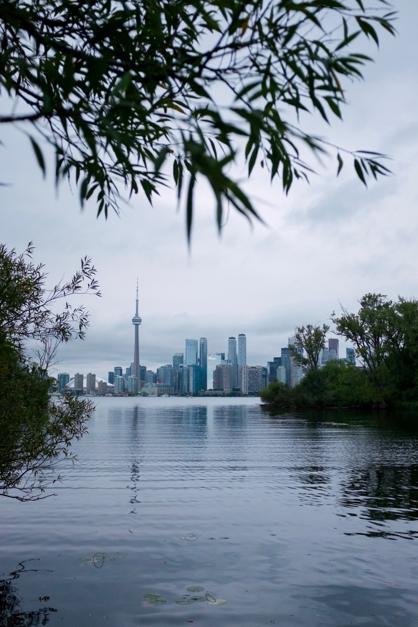 The CN Tower in Toronto, as seen from Ward's Island.