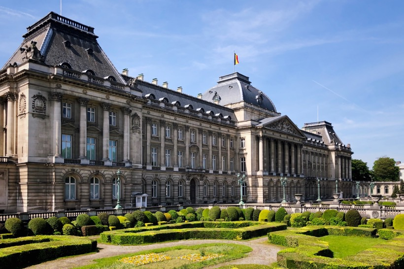 The Royal Palace in Brussels.