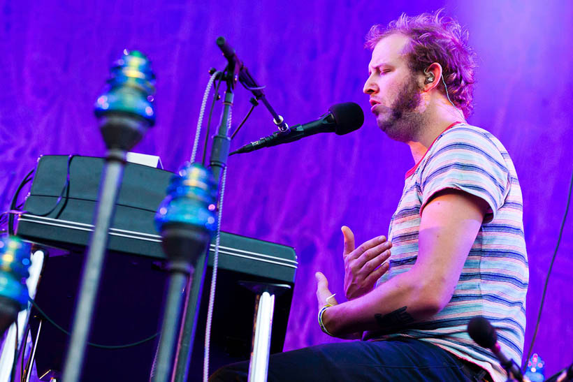 Bon Iver live at Dour Festival in Belgium on 14 July 2012