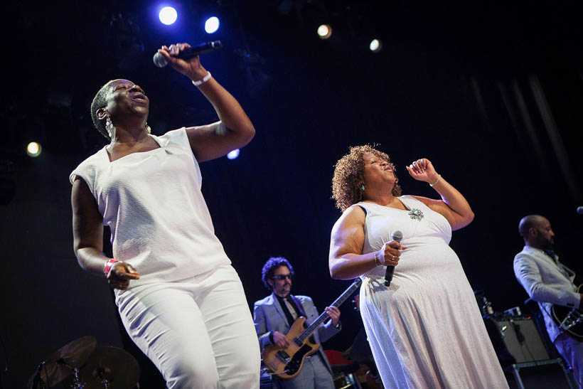 Daptone Super Soul Revue live at Rock Werchter Festival in Belgium on 3 July 2014