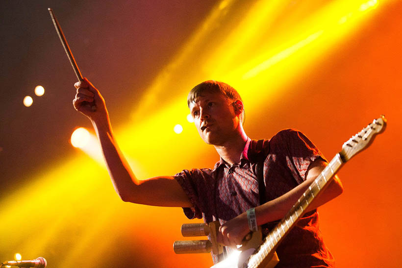 Django Django live at Rock Werchter Festival in Belgium on 6 July 2013