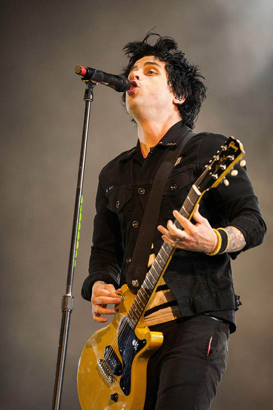 Green Day live at Rock Werchter Festival in Belgium on 4 July 2013