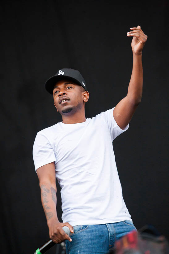 Kendrick Lamar live at Rock Werchter Festival in Belgium on 6 July 2013