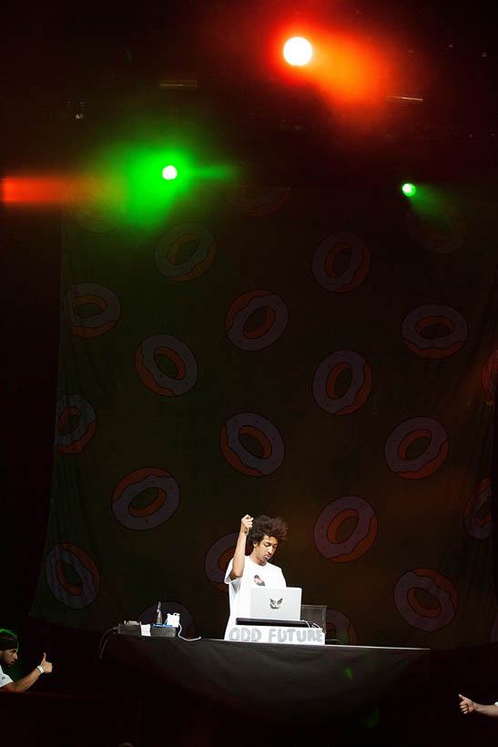 Odd Future live at Rock Werchter Festival in Belgium on 6 July 2013