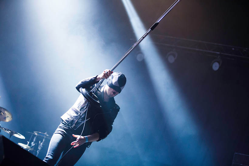The Bloody Beetroots live at Rock Werchter Festival in Belgium on 4 July 2013