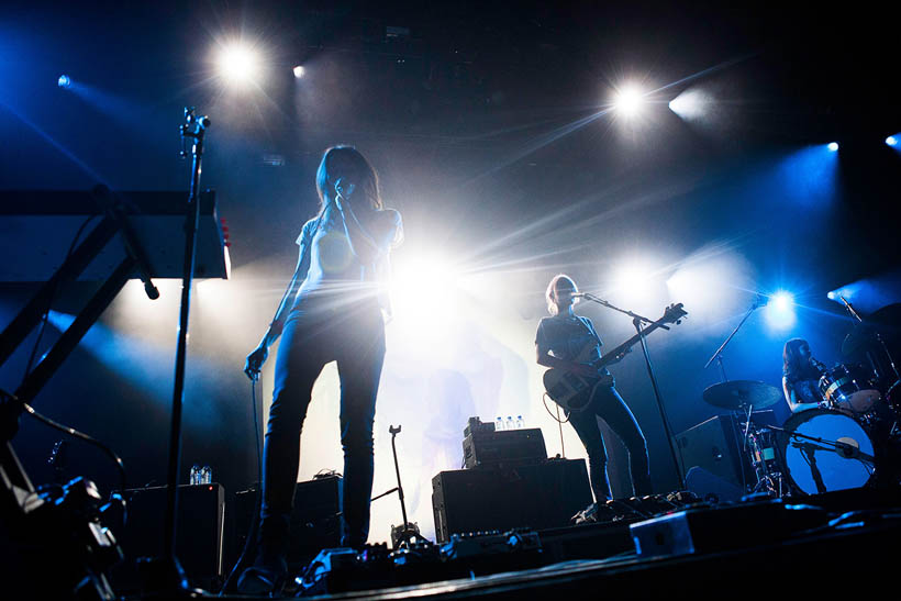 Warpaint live at Rock Werchter Festival in Belgium on 3 July 2014