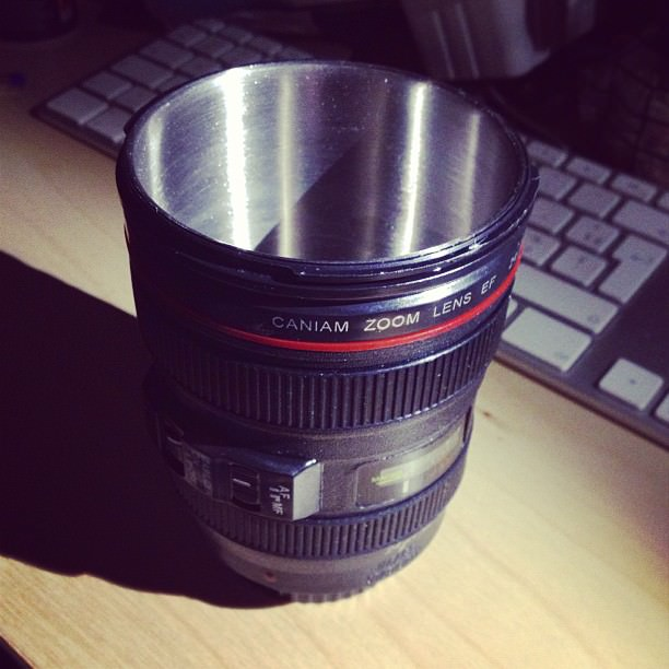 And she gave me a lens cup for my coffee/tea :).
