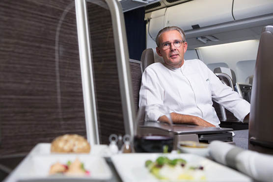 Peter Goossens in an A330 plane of Brussels Airlines