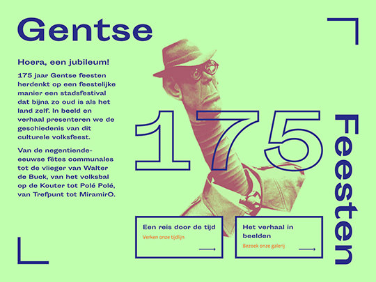 Gentse Feesten 175 (development of website)