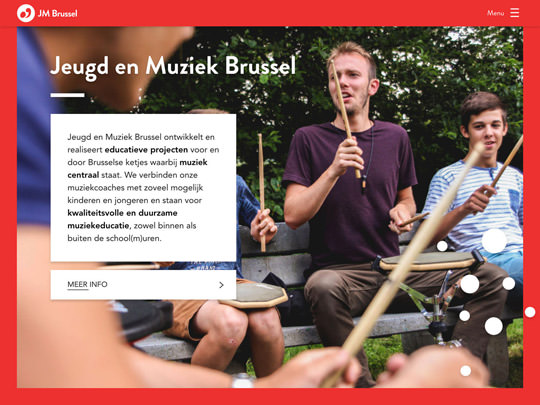 Jeugd en Muziek Brussel (development of website)