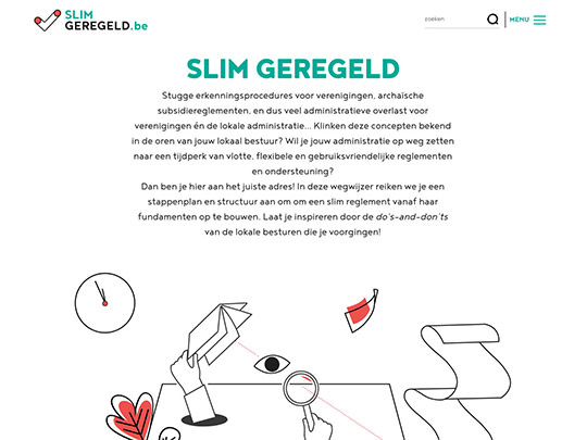 Slim Geregeld (development of website)