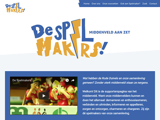 De Spelmakers (development of website)